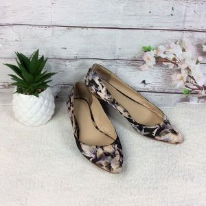 Vince Camuto Floral Pointed Toe Flats Sz 7.5